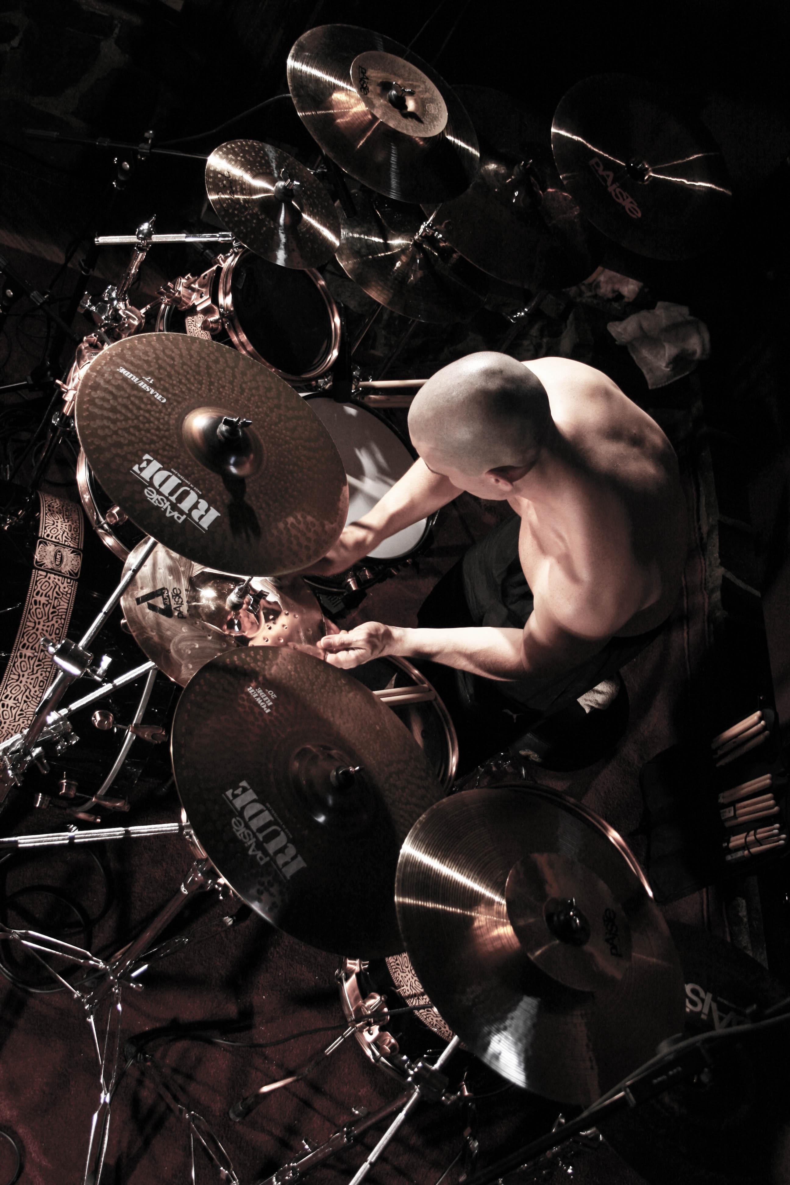Oli Beaudoin (2013) - Recording drum kit setup