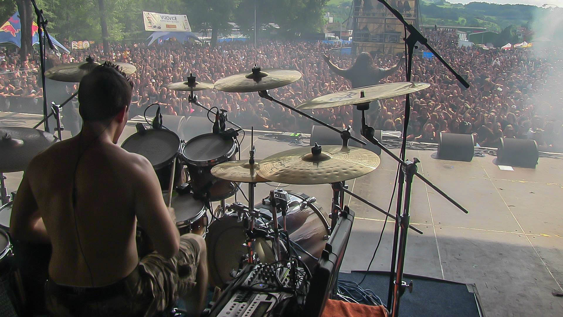 Oli Beaudoin (2014) with Kataklysm at Masters of Rock Festival (Czech Republic)