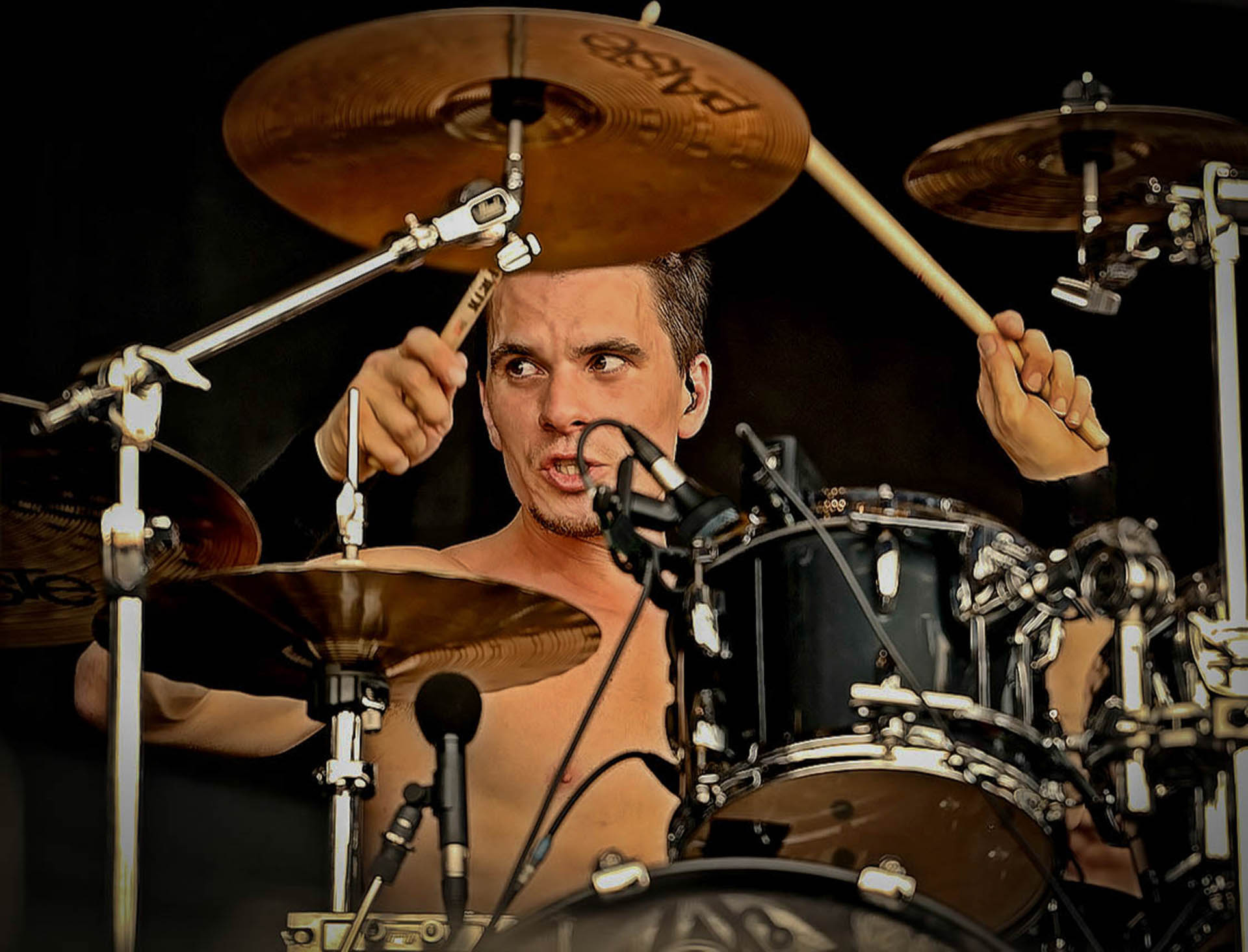 Oli Beaudoin (2014) with Kataklysm live at With Full Force Festival