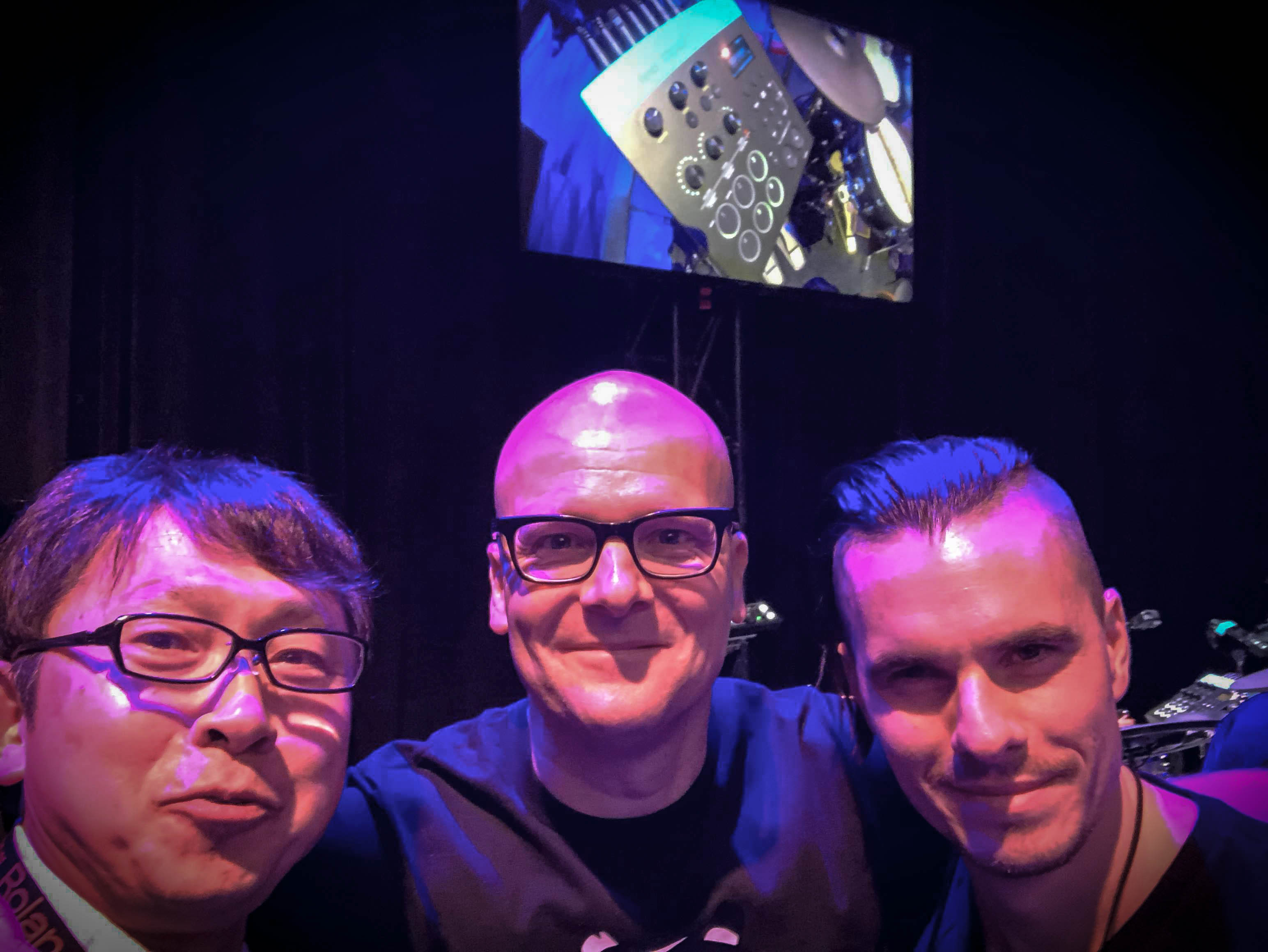 Oli Beaudoin (2018) - Visit at NAMM - with Nishi of Roland Japan and Michael Shack